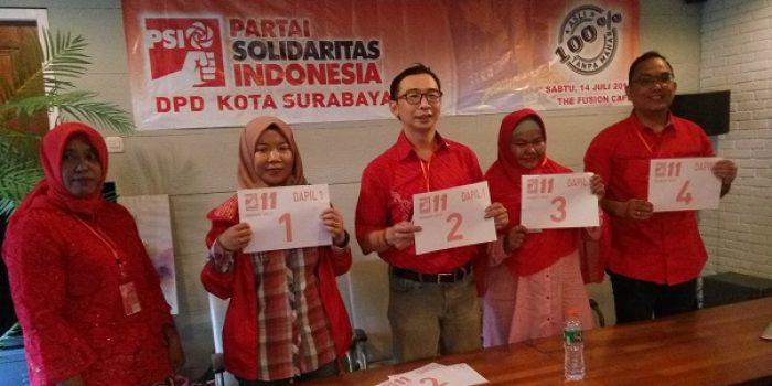 Hebohnya Kader PSI Surabaya Undi Nomor Urut Caleg