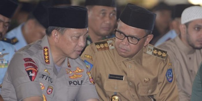 Kapolri Apresiasi Gubernur Nurdin Abdullah, Sulsel Aman Selama Pemilu