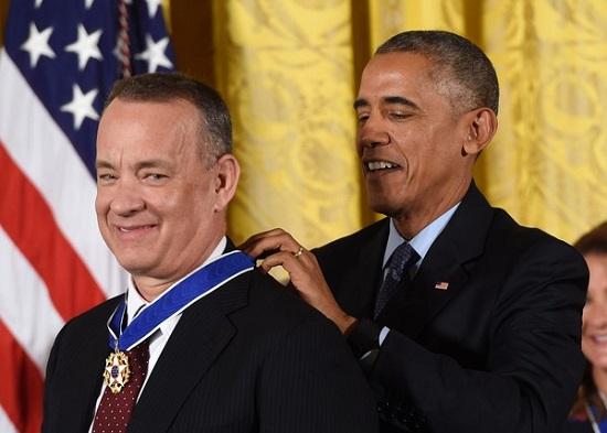 Tom Hanks dan Barack Obama