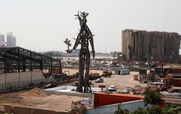 The Gesture ledakan Beirut di pelabuhan ibu kota di Lebanon.